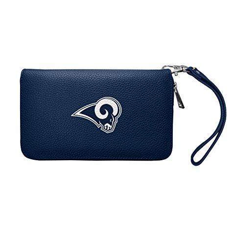 Littlearth Damen NFL Los Angeles Rams Zip Organizer Pebble Wallet, Navy, 20,3x 10,2x 2,5cm -