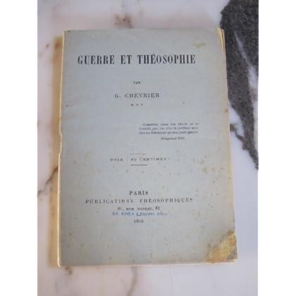 Guerre et théosophie, par G. Chevrier