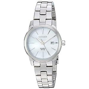Citizen EU6070-51D – Reloj de pulsera, cuarzo, para mujer, acero inoxidable, estilo informal, color plateado –