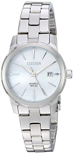 Citizen EU6070-51D - Reloj de pulsera, cuarzo, para mujer, acero inoxidable, estilo informal, color plateado -