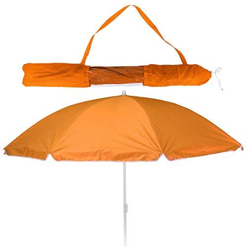 - Strandschirm - Sonnenschirm - LSF 30+ - 156cm mit Farbauswahl (orange) ()