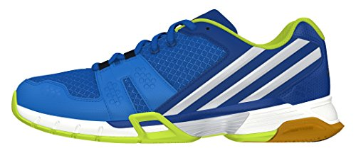 adidas Volley Team 4, Chaussures de Volleyball Homme Bleu - Azul (Azuimp / Plamet / Eqtazu)