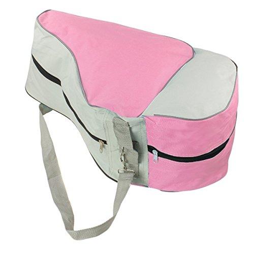TININNA Bolso Bandolera en-línea de/Roller/Ice Skate Bag Roller Patines Bolsa Mochila,Bolsa de almacenaje para Patines-Rosa