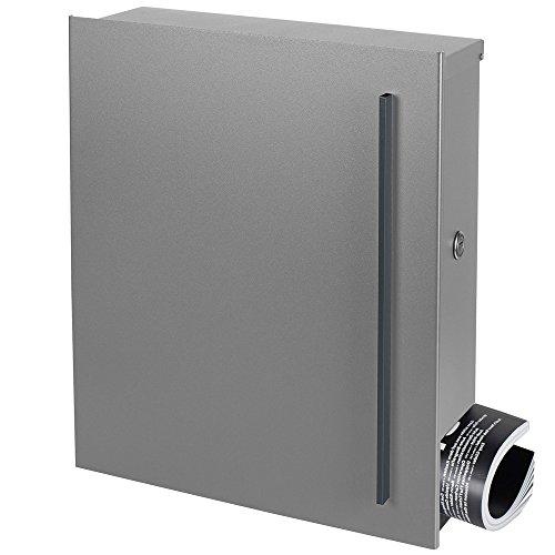 Design-Briefkasten mit Zeitungsfach 12 Liter silber seidenglanz (RAL 9006) MOCAVI Box 115 weißaluminium Wandbriefkasten Postkasten - 3