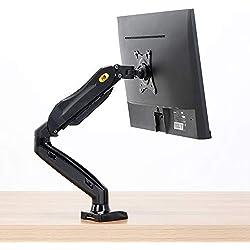 """NB F80 - Support pour écrans PC LCD LED 43-69 cm / 17-27"""" réglage dans Plusieurs Axes, Pivot, Ressort à gaz jusqu'à 6,5 kg"""