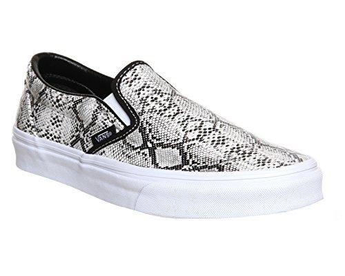 Vans U Classic Slip-on Overwashed, Unisex-Erwachsene Sneakers Silver Snake Print