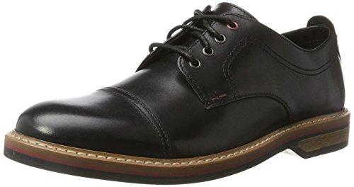 Clarks Herren Pitney Cap Derbys, Schwarz (Black Leather), 44.5 EU