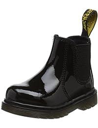 Dr. Martens Unisex Kids' Shenzi Black Patent Lamper Chelsea Boots
