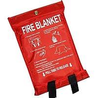 Manta ignífuga, grande, rápido Unfolding, con trabillas, 1x 1m, Fire Blanket, 3 unidades