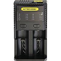 Nitecore SC2 Chargeur de Batteries Mixte Adulte, Noir