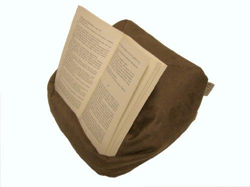 Preisvergleich Produktbild LESEfit soft antirutsch Lesekissen, Tablet Kissen, echter Sitzsack für iPad * Bücher & eBook-Reader, elastan-frei für Bett & Couch / mocca braun
