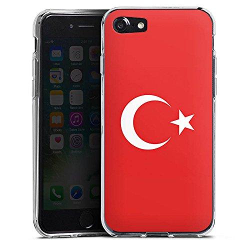 Apple iPhone X Silikon Hülle Case Schutzhülle Flag of Turkey Türkei Flagge Türkiye Silikon Case transparent
