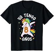 Niños NIÑA UNICORNIO REGALO 8 AÑOS, 8. CUMPLEAÑOS, 8 AÑOS Camiseta