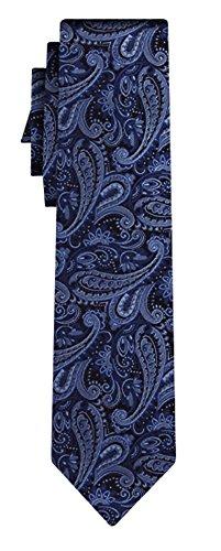 BOSS Seidenkrawatte BOSS paisley pattern blue silver
