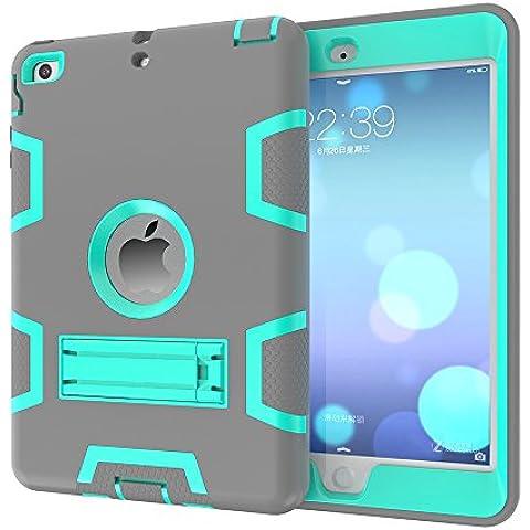OnPrim Stylish Silicone Rubber PC Hybrid Shock Proof Bumper Kickstand Protective Case For iPad Mini 4 7.9 Inth