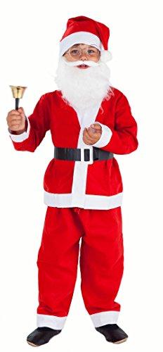 Magicoo Nikolaus-kostüm Kinder 5-teilig - Weihnachtsmann Kostüm Kinder Jungen - Weihnachtsmannkostüm Kinder - Santa Kostüm Für Jungen