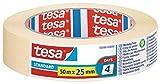 Tesa TE05086-00000-02 Cinta de Pintor Standard para perfiles Rectos 50mx25mm, amarillo
