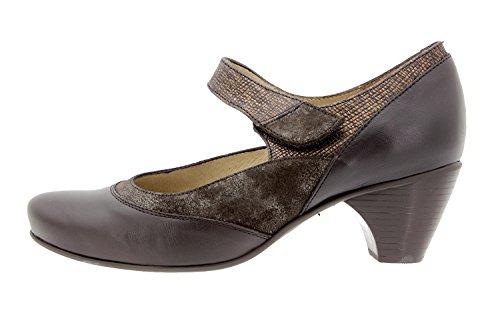 Scarpe donna comfort pelle PieSanto 9407 Mary Jean casual comfort larghezza speciale Caoba