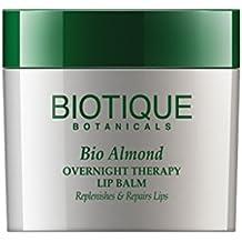 Biotique Bio Almond Overnight Therapy Lip Balm Replenishes & Repairs Lips, 12G