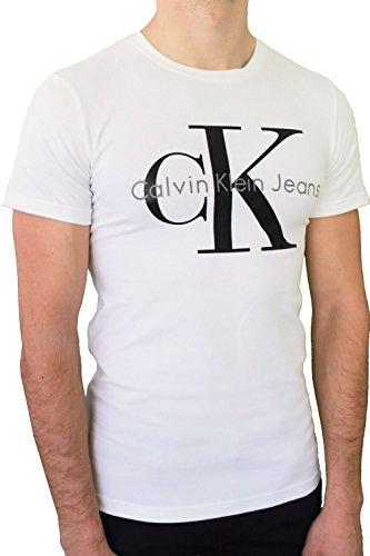 Calvin klein -  t-shirt - uomo bianco l