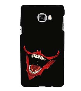 PrintVisa Ghost Smile 3D Hard Polycarbonate Designer Back Case Cover for Samsung Galaxy C7