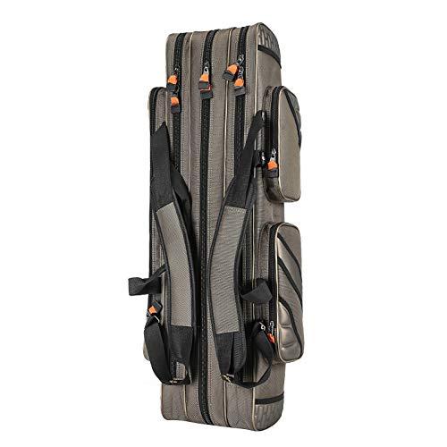 Toogoo outdoor 3 strati di borse da pesca 120 cm impermeabile attrezzatura da pesca borsa da pesca canna da pesca borse di stoccaggio carp fishing tackle