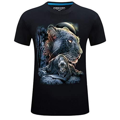 Kurzarm Herren New Summer Printed Casual Große Größe Rundhals T-Shirt Tops - Fleece Großen T-shirt