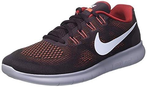 Nike Herren Free Rn 2017 Laufschuhe, Mehrfarbig (Black/Hydrogen Blue/Tough Red/Port Wine/Glacier Grey), 44 EU