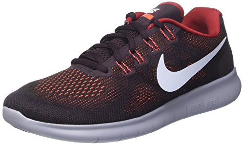 Nike Herren Free Rn 2017 Laufschuhe, Mehrfarbig (Black/Hydrogen Blue/Tough Red/Port Wine/Glacier Grey), 42 EU