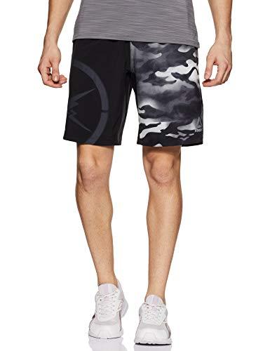 Reebok Herren CAMO Speed Shorts Kurze Hose, Schwarz (Negro), XL -