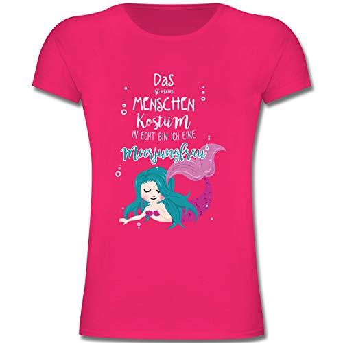 Karneval & Fasching Kinder - Das ist Mein Menschen Kostüm in echt Bin ich eine Meerjungfrau - 152 (12-13 Jahre) - Fuchsia - F131K - Mädchen Kinder - Meine Mädchen Kostüm