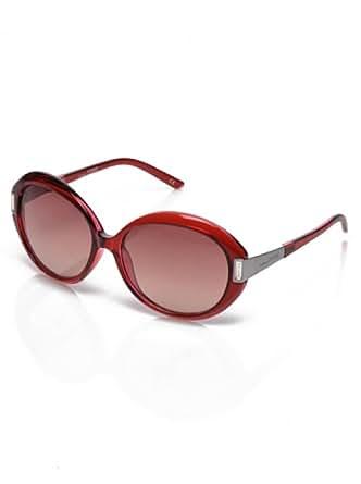 Gianfranco Ferre Women GF912-02 Honey Violet Ruthenium-Crystal Swarovski / Shaded Dark Smoke Sunglasses