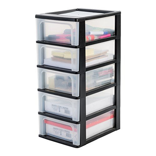 iris-ohyama-europe-och-2005-plastic-a-4-drawer-chest-with-5-drawer-organiser-black