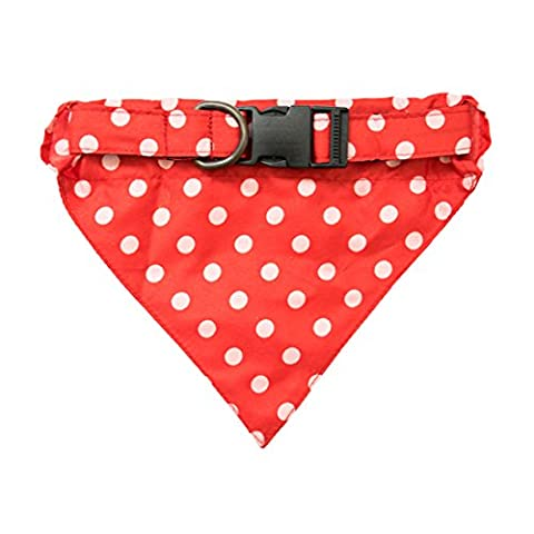 Dog Bandana Scarf Pet Neckerchief by Hide & Drink :: Polka Dots Red