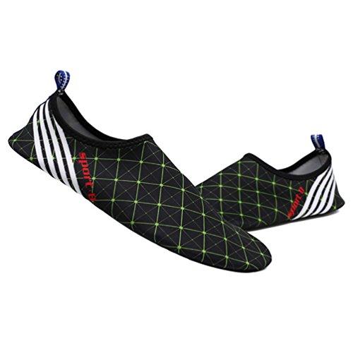 LvRao Männer Und Frauen Aqua Schuhe Strandschuhe Weiche Elastische Schwimmen Schuhe Strand Wasserschuhe Schwarz Grün
