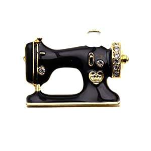 crownofribbons Nähmaschine Brosche, Emaille Nähen Pin Brosche nähen, Nähen, Geschenk, Emaille Pin