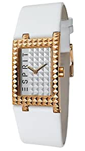 Esprit - ES102462/004 - Montre Femme - Quartz Analogique - Bracelet Cuir Blanc