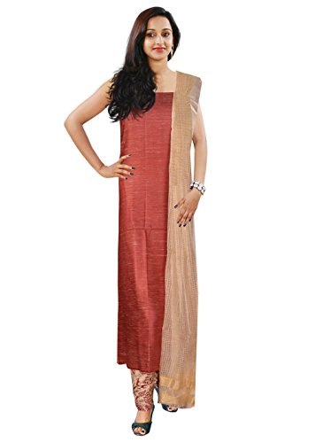 Women's Light Maroon Color Jute Salwar