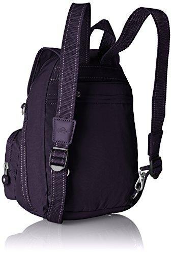 Kipling Damen Firefly Up Rucksack, 22x31x0.1 cm Violett (Blue Purple C)