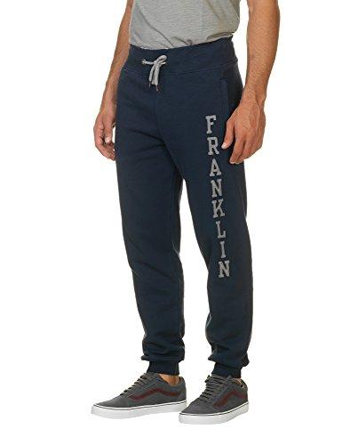 Franklin & Marshall Men's Fleece Pants Men's Trackpants In Blue 100% Cotton Blue