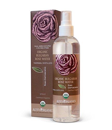 Alteya Organic Agua Floral de Rosa (Rosa Damascena) 250 ml – Spray - 100% Puro Natural Bio Producto con Certificado USDA, Obtenido por Destilación al Vapor de Frescas Flores Cosechas a Mano, Vendido Directamente por el Cultivador y Destilador Alteya Organics desde el Corazón del Valle de las Rosas en Bulgaria