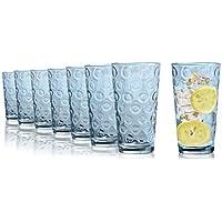 Vasos de agua Tivoli Maryland - 490 ml - Set de 8 - Vasos de alta calidad - Apto para lavavajillas - Vasos de cristal