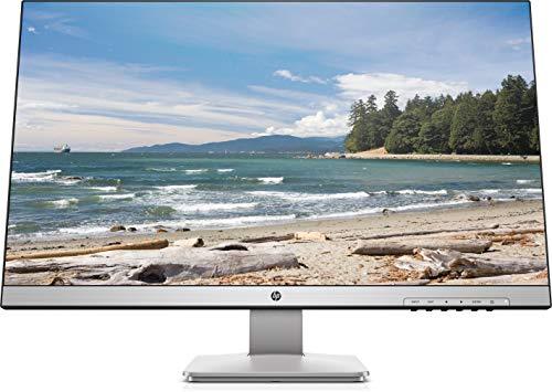 HP 27q (27 Zoll QHD PLS) Monitor (AMD FreeSync, DisplayPort, HDMI, DVI-D, 2560 x 1440, 60Hz, 5ms Reaktionszeit) silber
