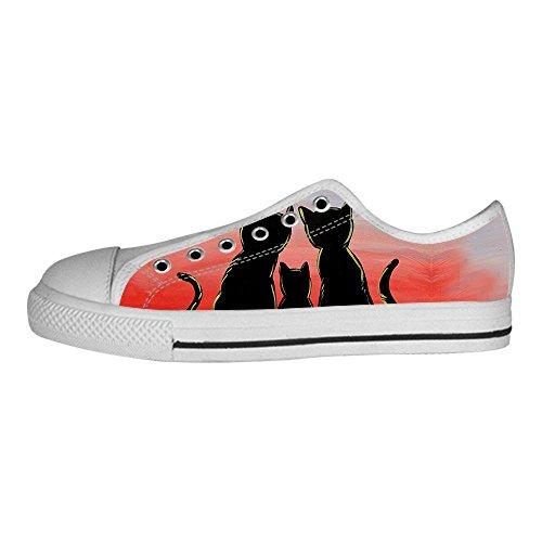 Custom Cartoon gatto Men s Canvas Shoes Scarpe Lace Up High Top Sneakers a vela panno scarpe Scarpe di tela sneakers b