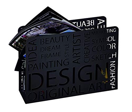 HAKU Möbel 44595 Zeitungsständer 35 x 10 x 26 cm, schwarz