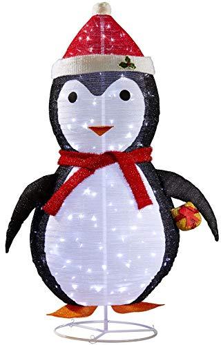 LED XXL Pinguin Weihnachtsfigur 180cm hoch integrierte LED Lichterkette 200 LEDs Außengebrauch Gartendekoration Winterdekoration