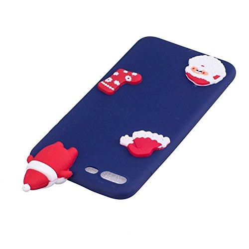 Cover iPhone 7 plus Custodia iPhone 8 plus Silicone Anfire Morbido Flessibile Gel TPU Case per iPhone 7 plus / 8 plus (5.5 Pollici) Ultra Sottile Antiurto Cartoon Protettivo Bumper Shell Ultra Leggera Blu Babbo