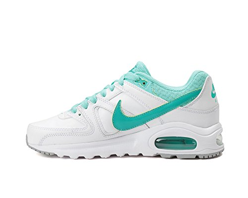 Nike Air Max Command Flex Ltr Gs, Chaussures de Running Entrainement Fille Blanco (White / Clear Jade-Hyper Turq)