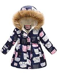 Bebé Niñas Chaqueta Sudadera con Capucha Manga Larga Impreso Abrigo Hoodies
