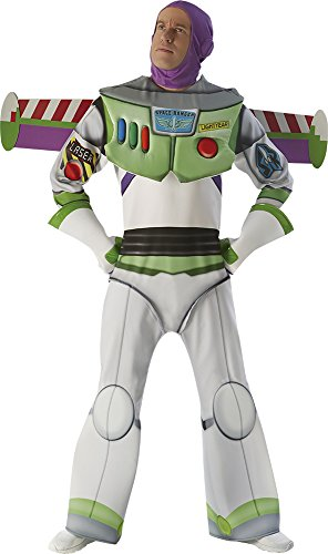 Deluxe Buzz Lightyear Herren Fancy Kleid Disney Toy Story Space Man Erwachsene Kostüm (Buzz Lightyear Handschuhe)